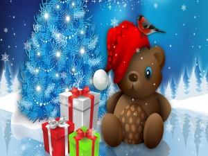 Regalos junto al árbol de Navidad