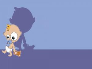 Bebé con su osito de peluche