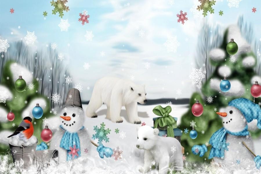 Mágica Navidad en el bosque