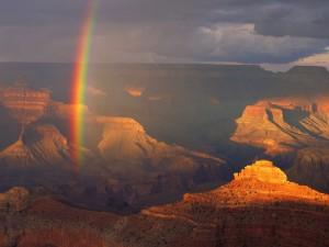Arcoíris en el Parque Nacional del Gran Cañón