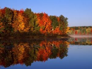 Otoño reflejado en el lago