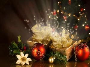 Resplandecientes regalos navideños