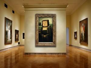 Cuadro de Mona Lisa Minecraft