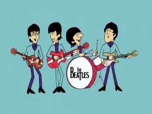 "Caricaturas de ""Los Beatles"""