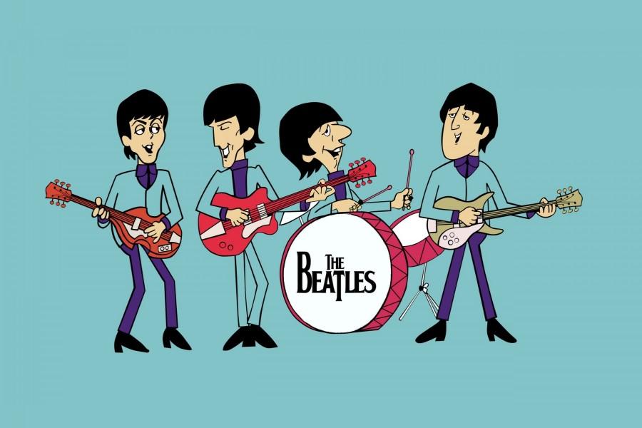 """Caricaturas de """"Los Beatles"""""""