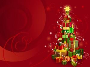 Arbolito navideño de regalos