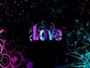 Amor con bonitos colores