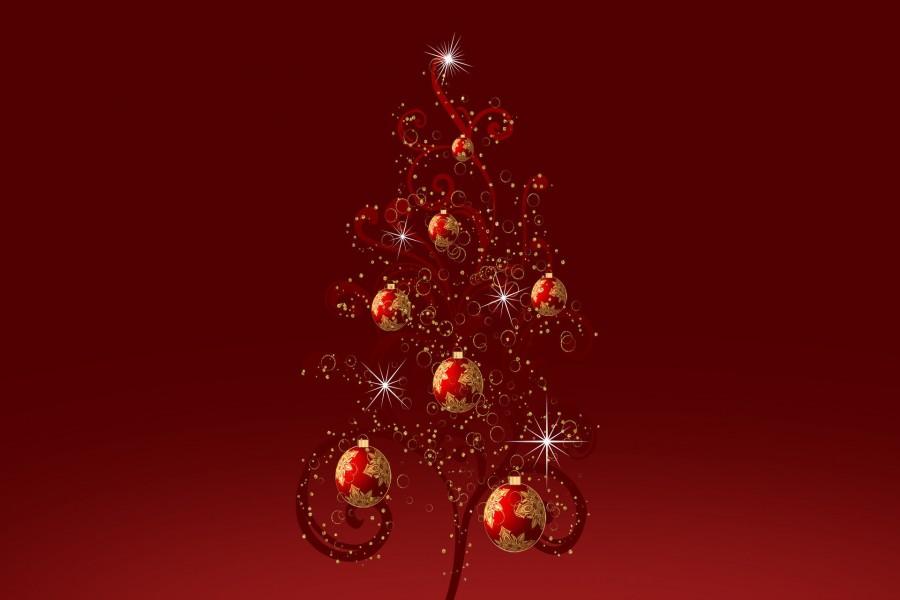 Rbol de navidad con bolas rojas 72671 - Bolas de arbol de navidad ...