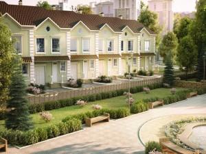 Moderno hotel con jardín