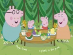 La familia Pig de picnic (Peppa Pig)