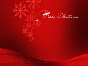 Merry Christmas con el gorro de Santa