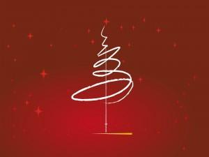 Imagen abstracta de un árbol de Navidad