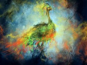 Avestruz abstracta