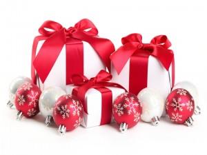 Adornos y regalos para la Navidad