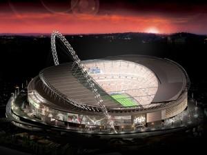 Estadio de Wembley de noche