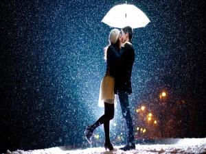 Beso bajo la nieve