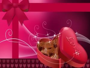 Caja de bombones para San Valentín