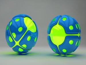 Esferas fluorescentes
