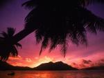 Amanece en una playa tropical