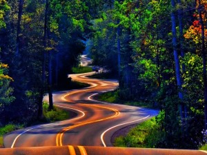 Carretera serpenteante