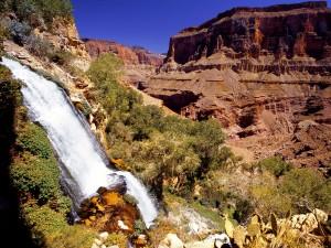 Cascada en el Parque Nacional del Gran Cañón