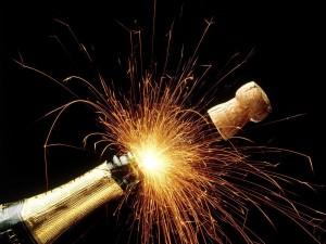 Chispas al descorchar el champán