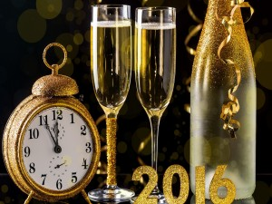 Pocos minutos para que llegue el Nuevo Año 2016