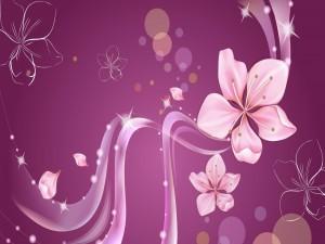 Imagen con flores color rosa