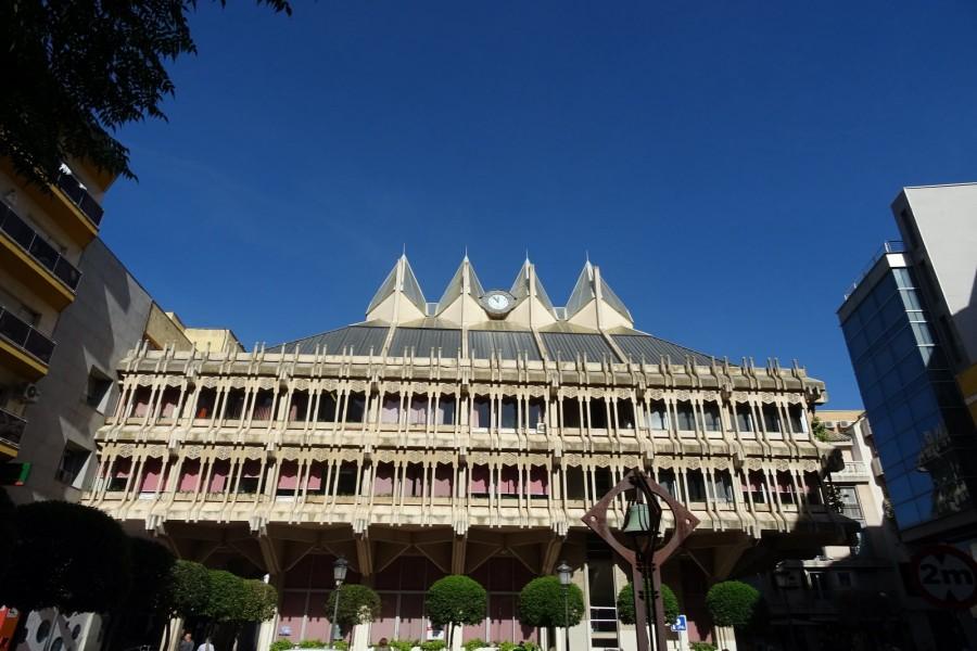 Fachada posterior del ayuntamiento de Ciudad Real