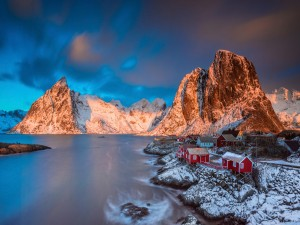 Invierno en las Islas Lofoten (Noruega)
