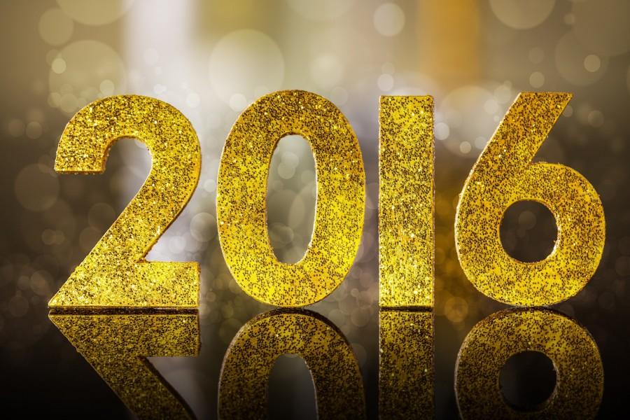 Brillante número del Nuevo Año 2016