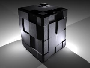 Cubo negro 3D