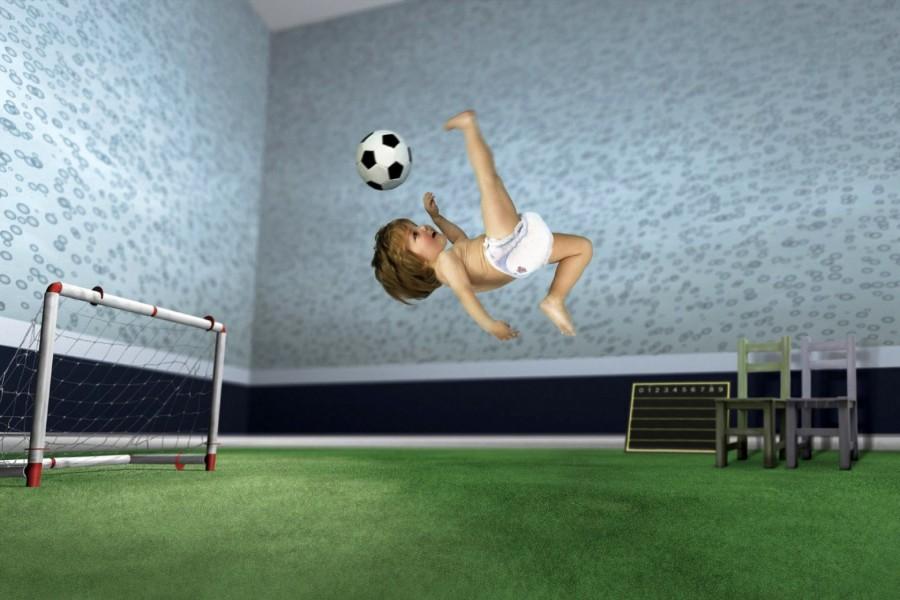 Bebé futbolista