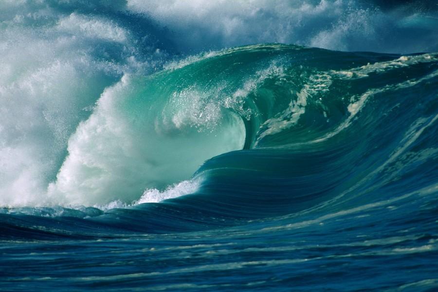 Gran ola en el océano