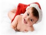 Un simpático bebé en Navidad