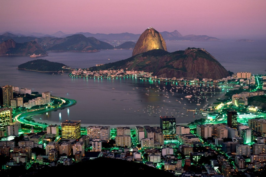 Hermosa vista de Río de Janeiro (Brasil)