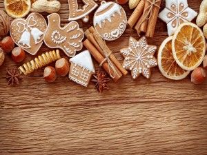 Galletas de Navidad y frutos secos
