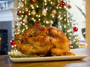 Pavo asado para comer en Navidad