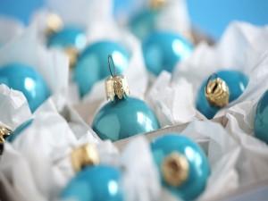 Bolas de Navidad de color celeste