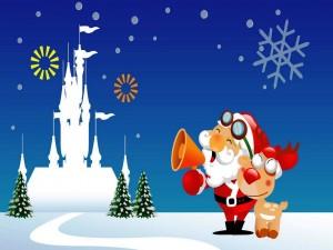 Santa y Rudolph
