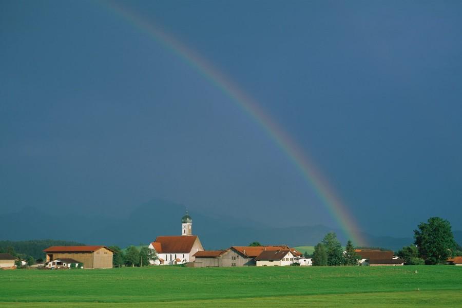 Gran arcoíris sobre Baviera
