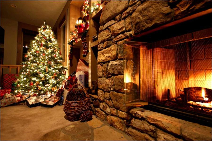 Chimenea encendida en navidad 73125 - Dibujos de chimeneas de navidad ...