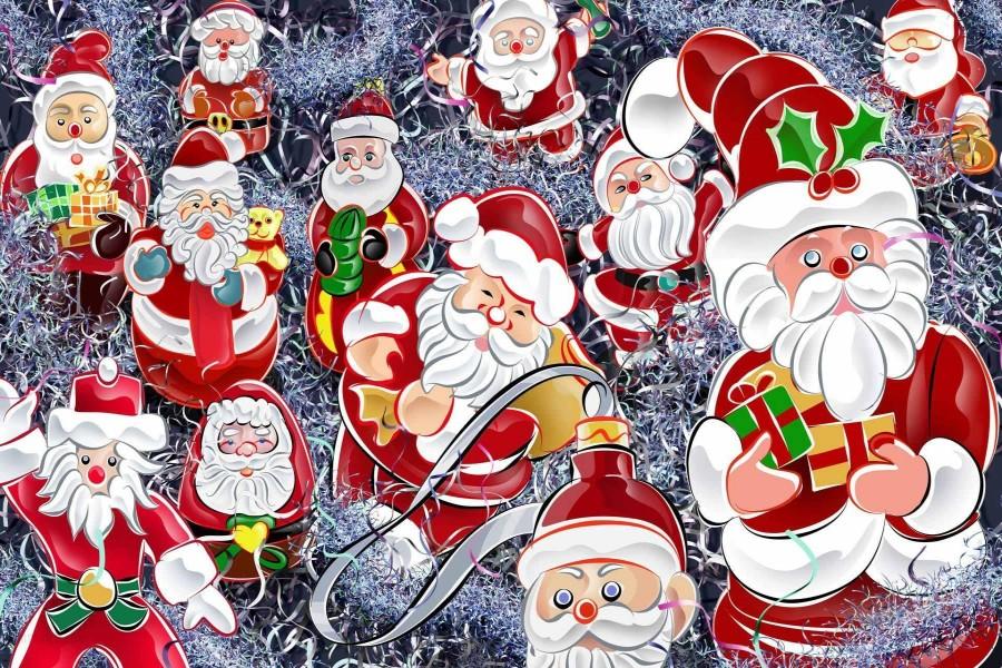 Imagen con varios Papá Noel