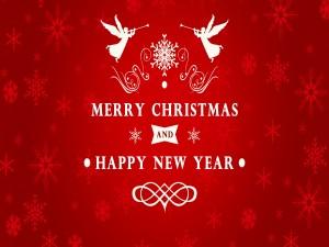 """Los ángeles le desean """"Feliz Navidad y Año Nuevo"""""""