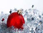 Una bola roja para Navidad