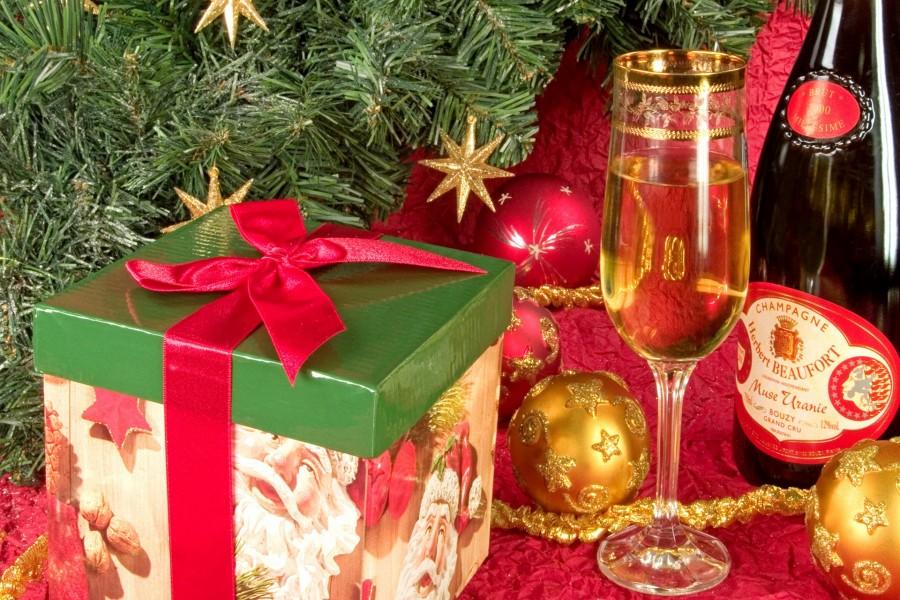 Champán para festejar la Navidad