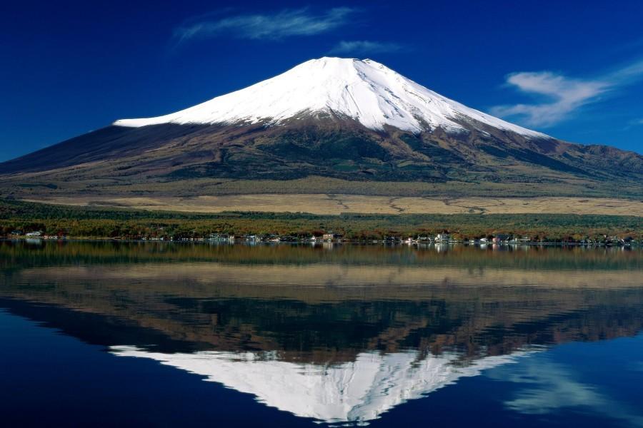 Hermosa vista del monte Fuji (Japón)