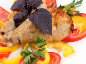 Patas de pollo con verduras