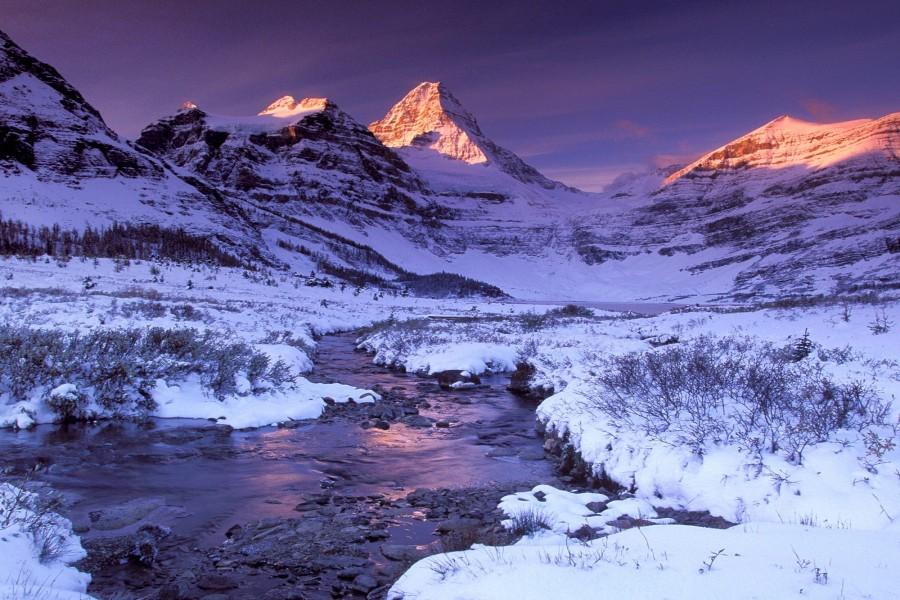 Nieve junto al r o y las monta as 73256 for Immagini desktop inverno