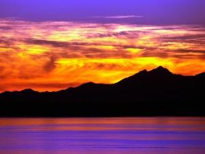 Bonitos colores en el cielo